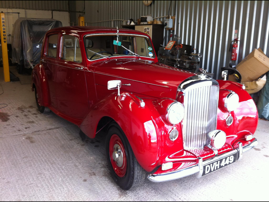 Red Bentley R-Type full restoration