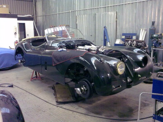 Green Jaguar XK120 Full Restoration