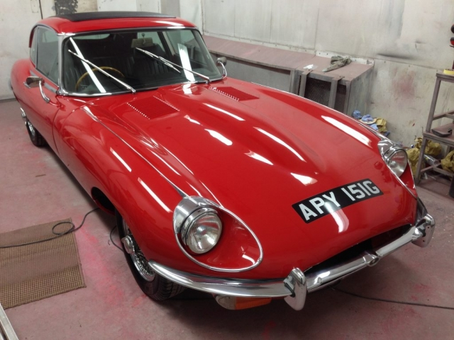 Red Jaguar E-Type